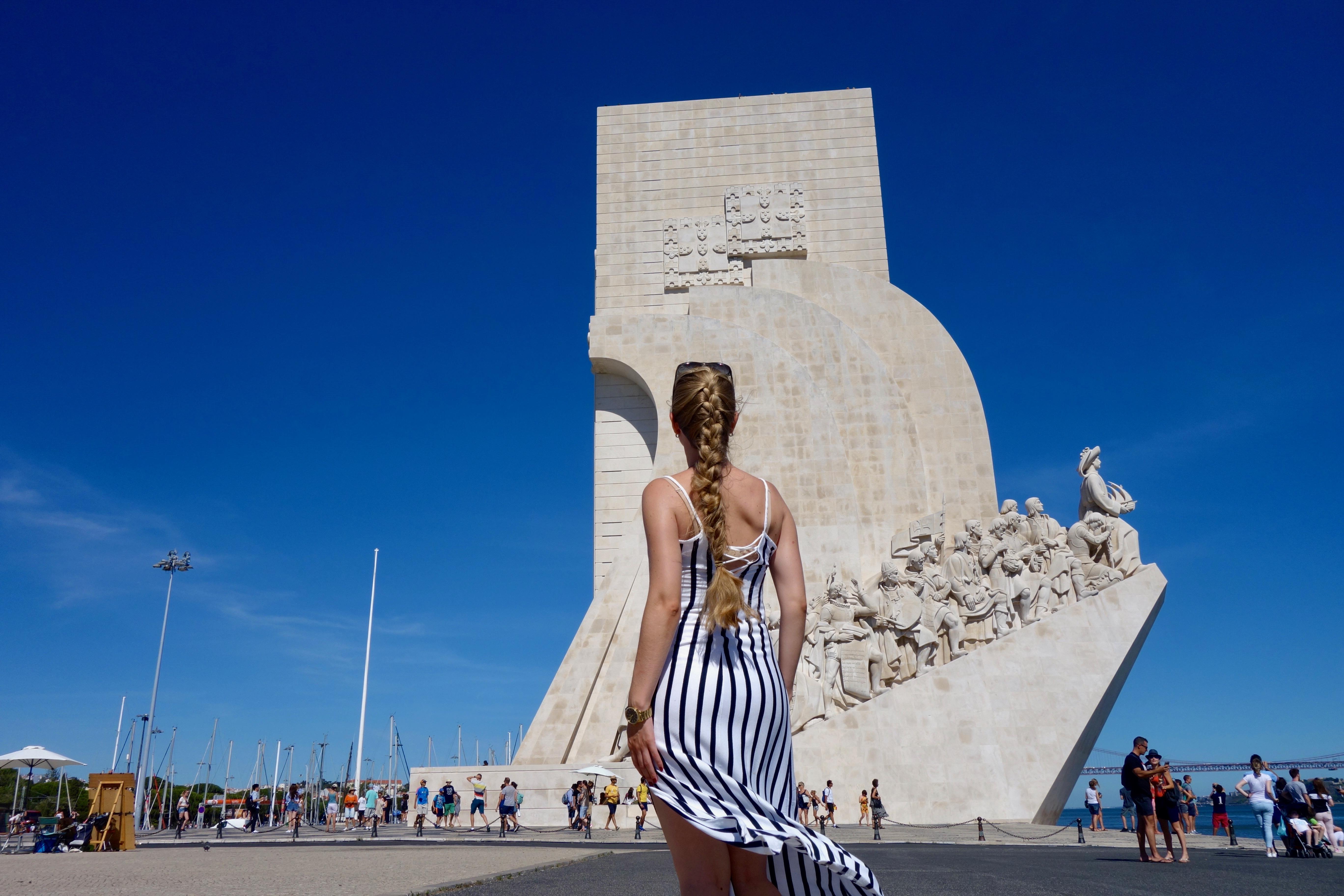 Lissabon : Monumento to the discoveries (padrão dos Descobrimentos)