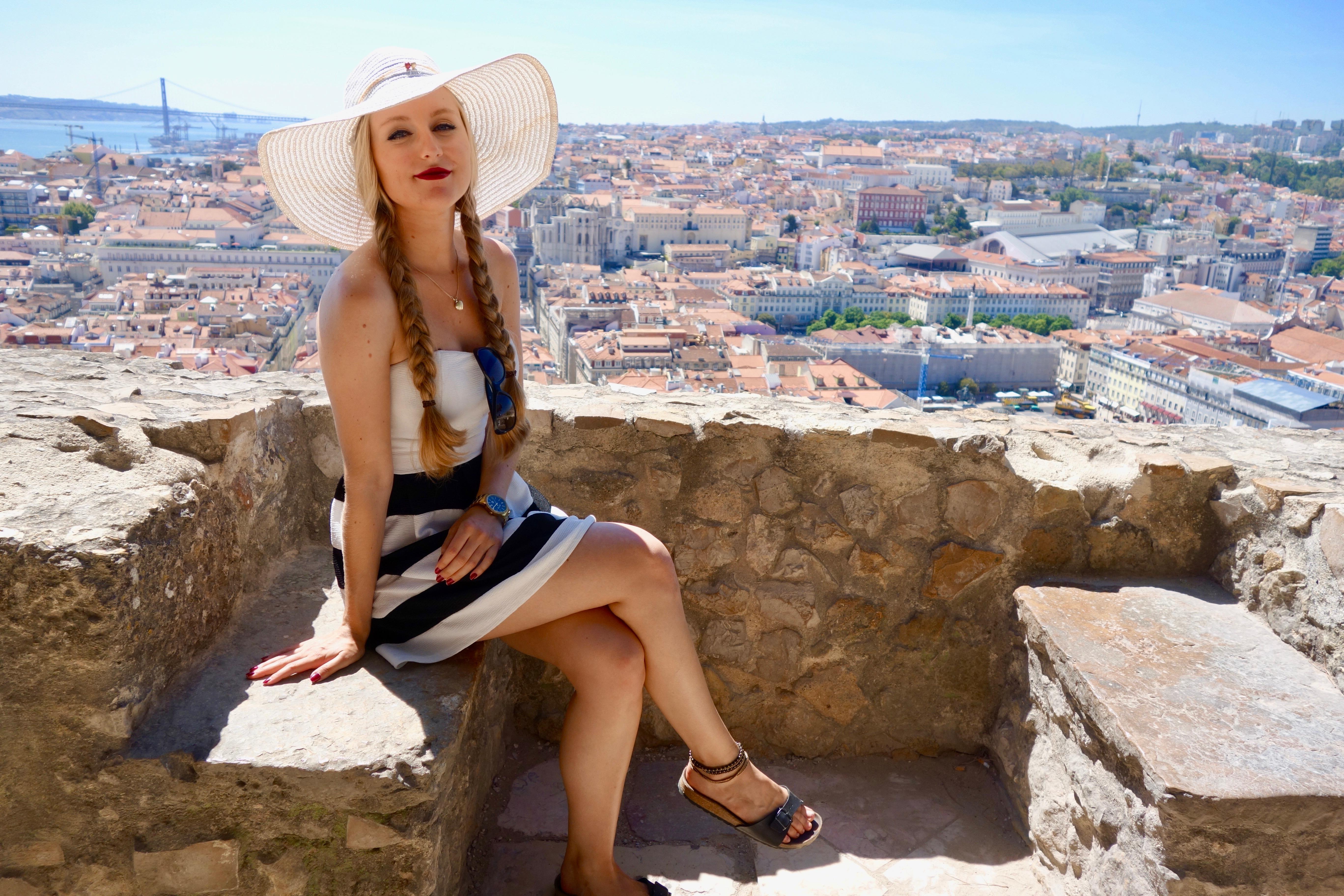 Lissabon: Aussicht von der Burg auf die Stadt und den Tejo
