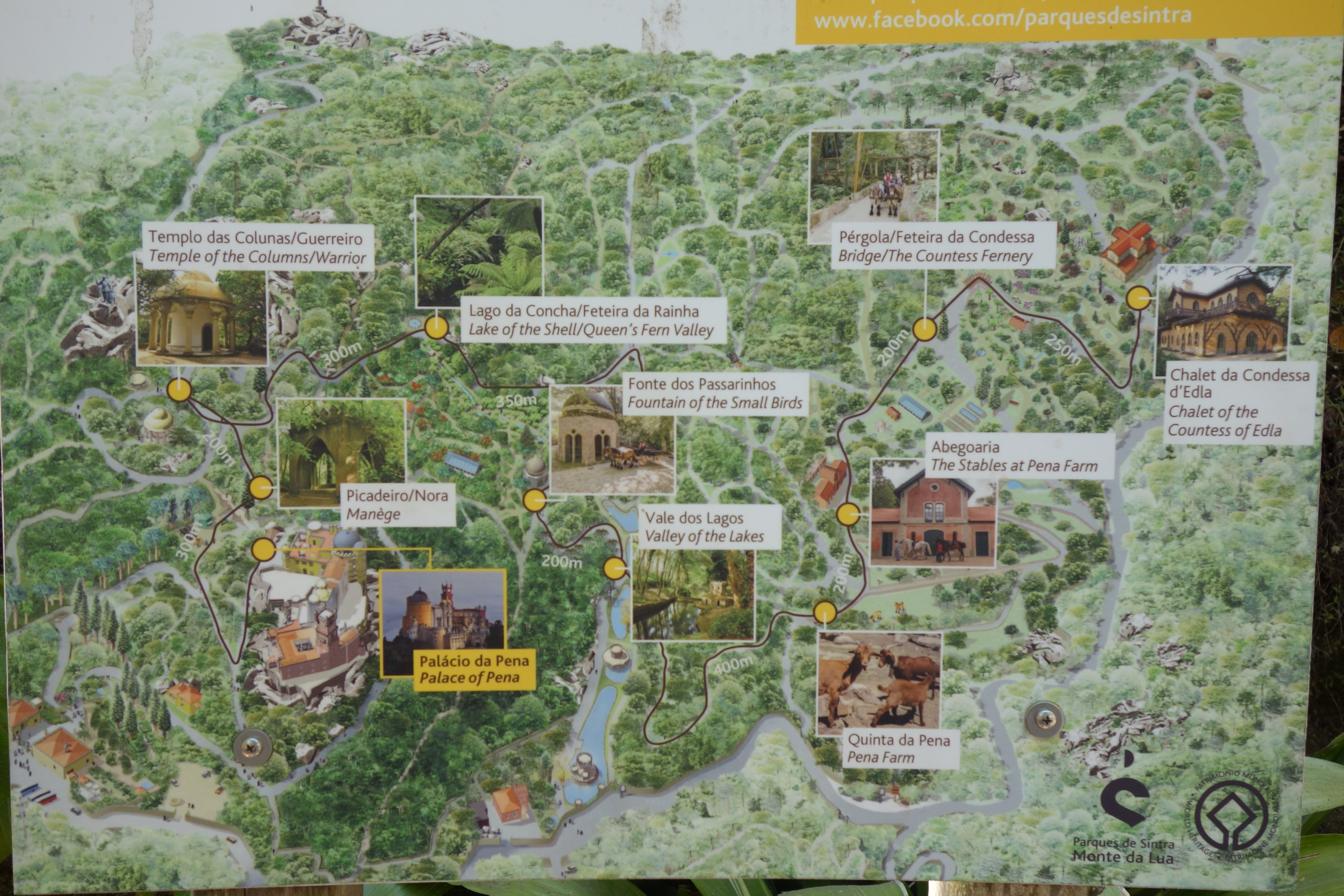 Sintra : Palácio da Pena (UNESCO Weltkulturerbe) Route des Hop on Hop off Busses