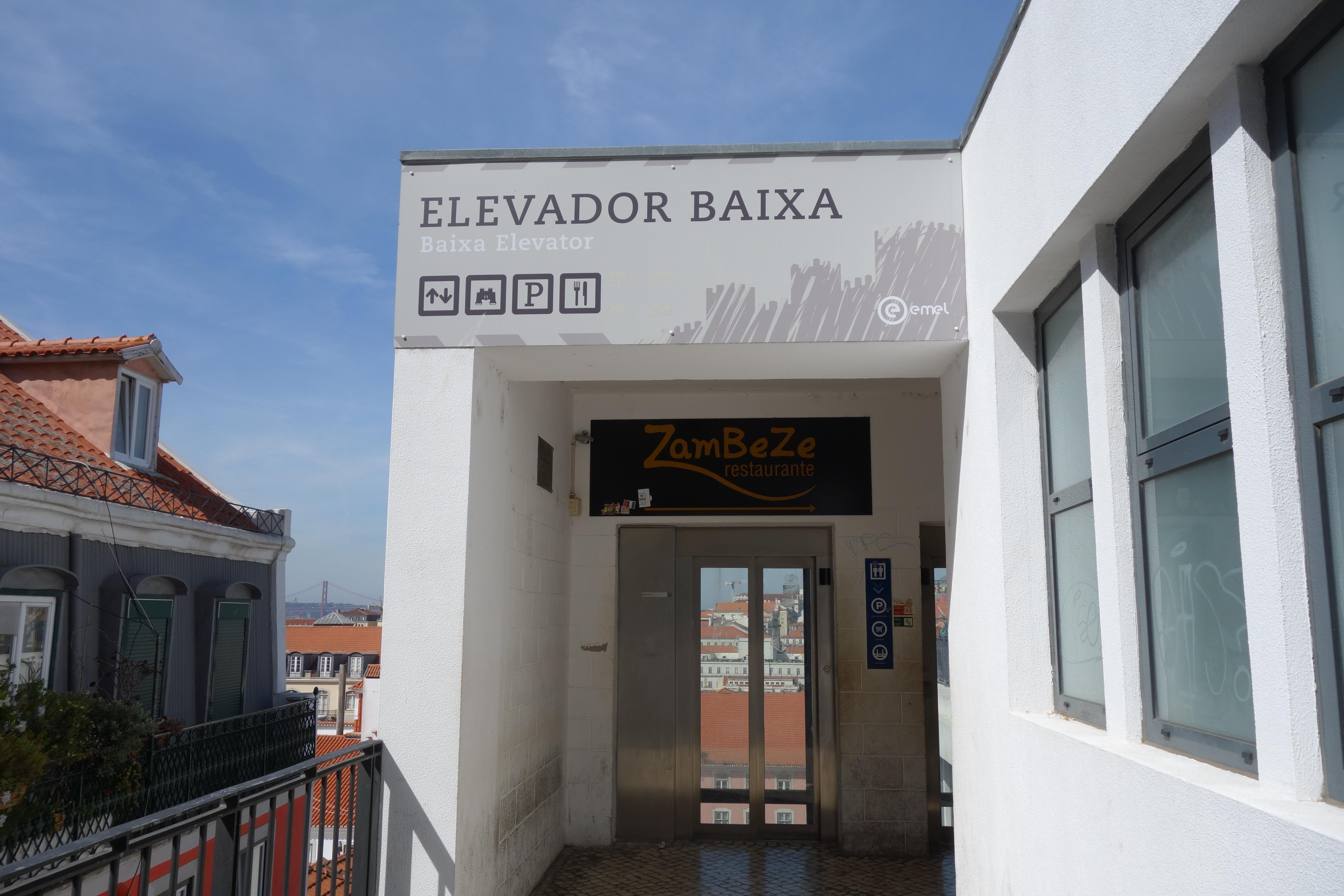 Lissabon: Elevador Baixa