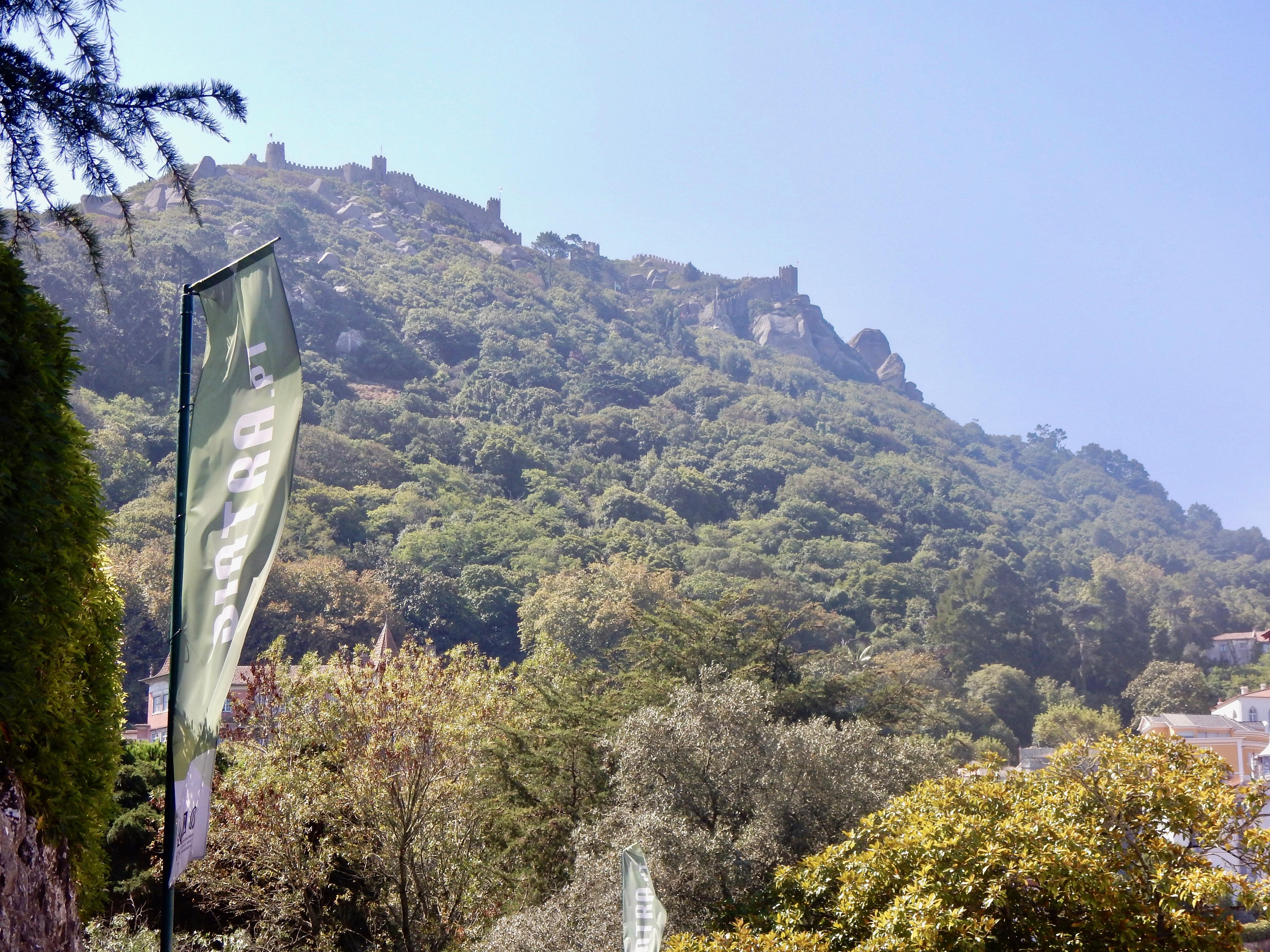 Sintra : ganz oben auf dem Berg : Moorish Castle / Castelo dos Mouros