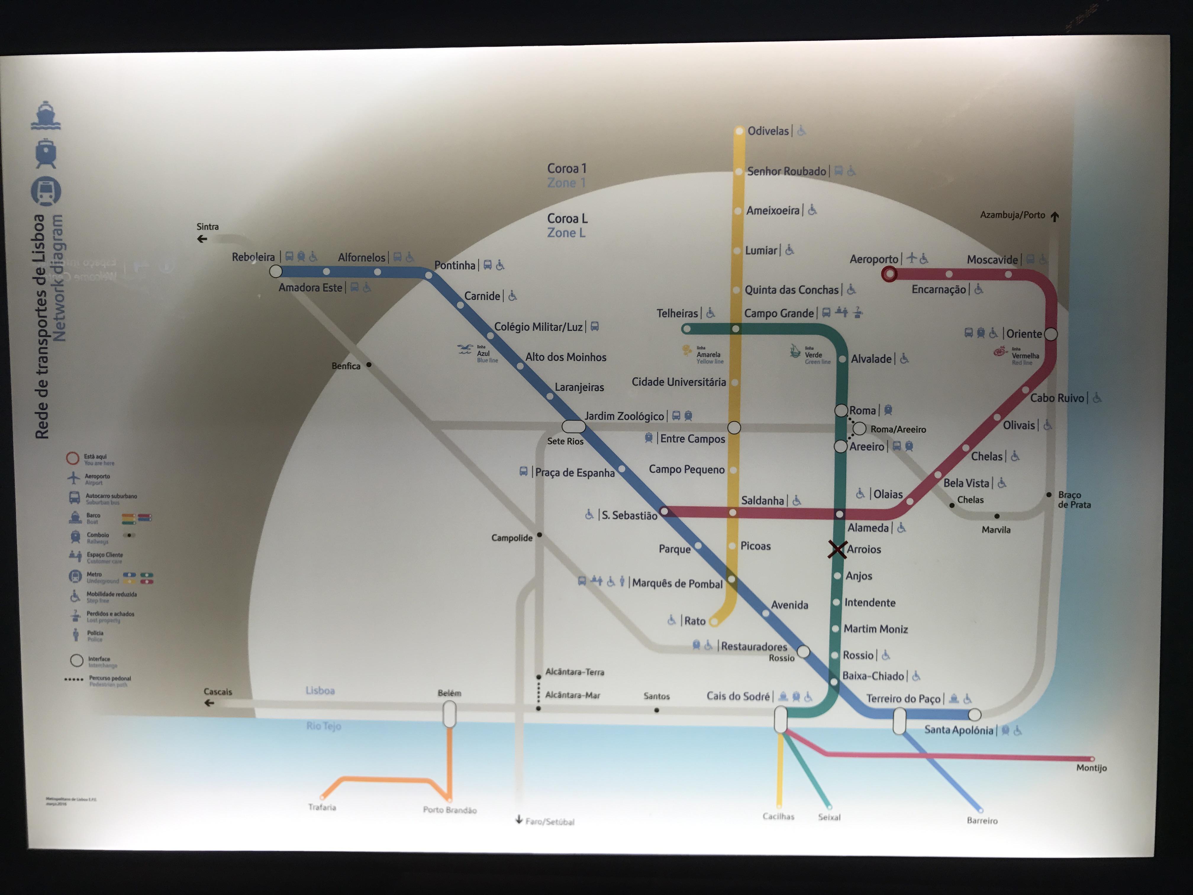 Lissabon: Metro Plan