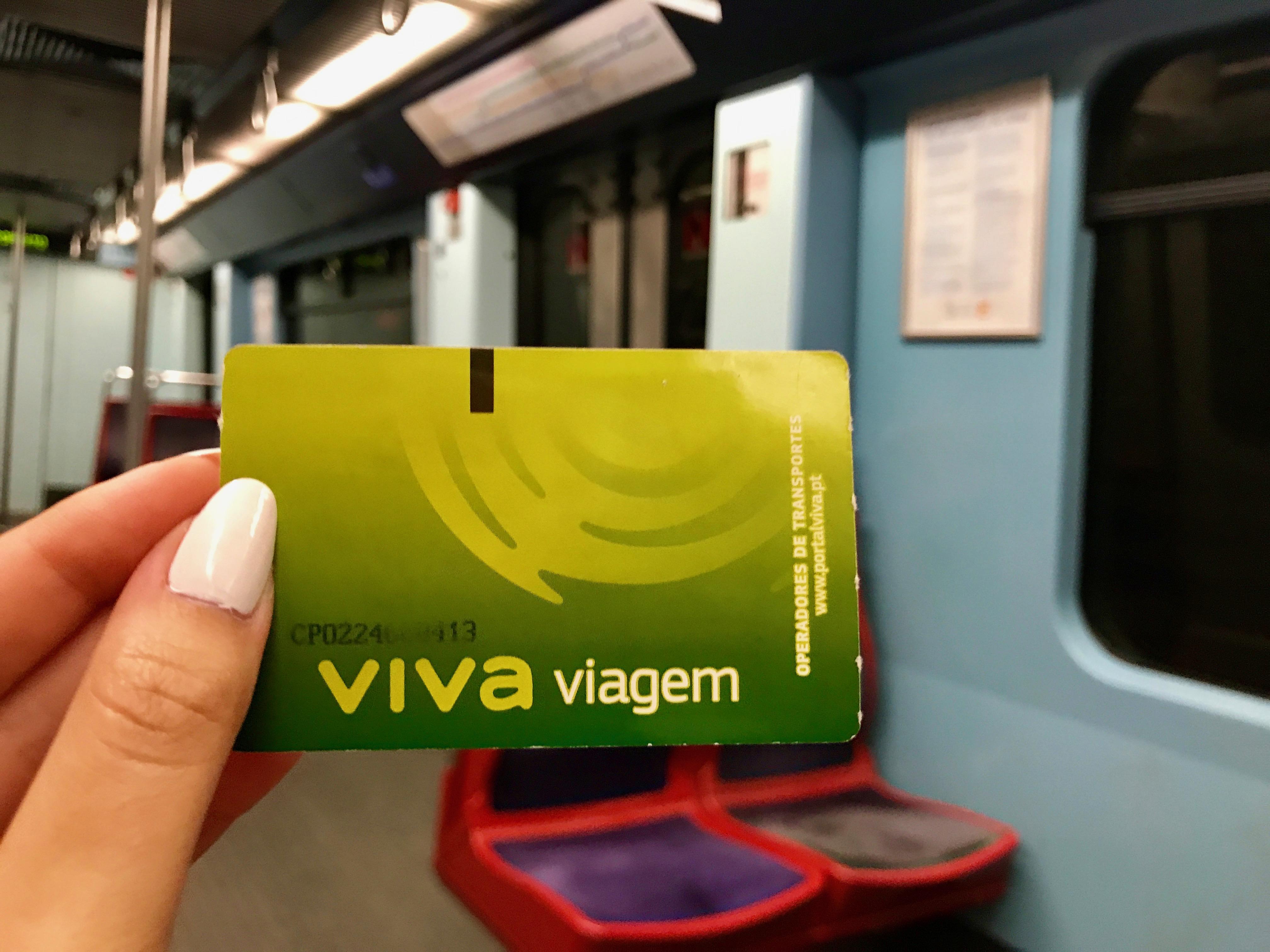 Lissabon : Viva viagem Karte (Bahnkarte)