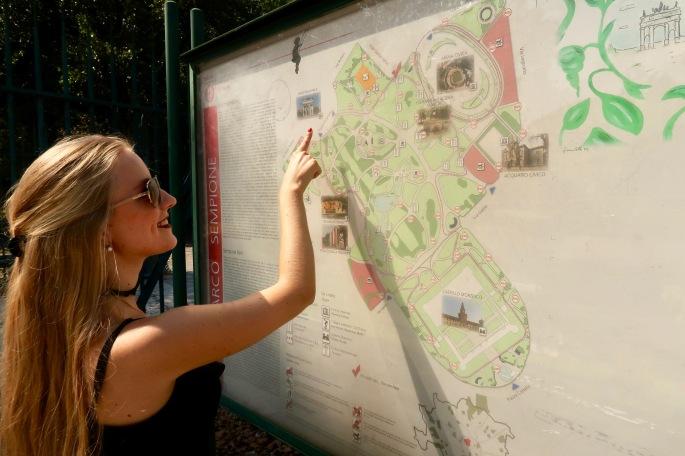 Mailand: Parco Sempione (Parkplan)