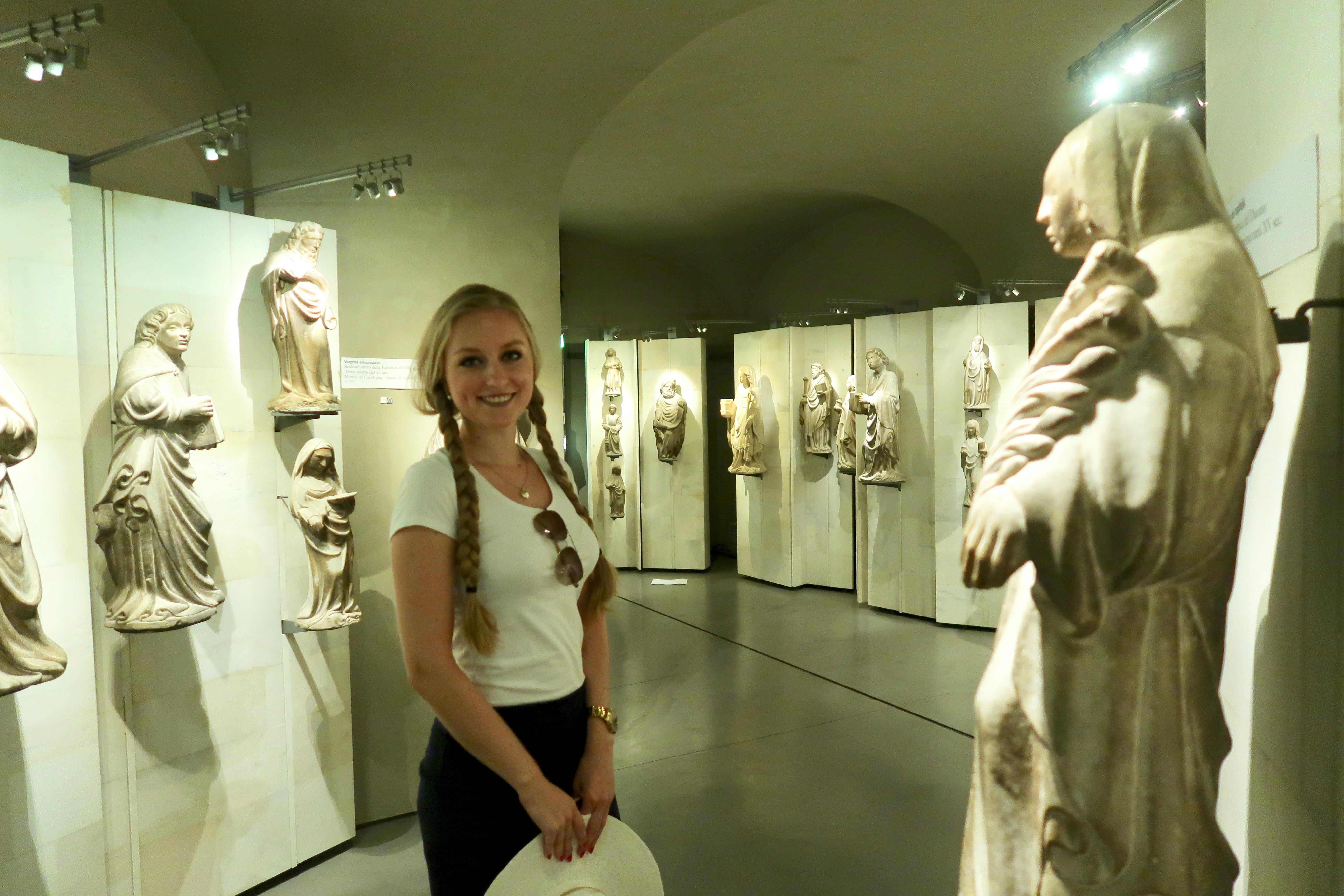 Mailand: Heiligenstatuen im Dommuseum