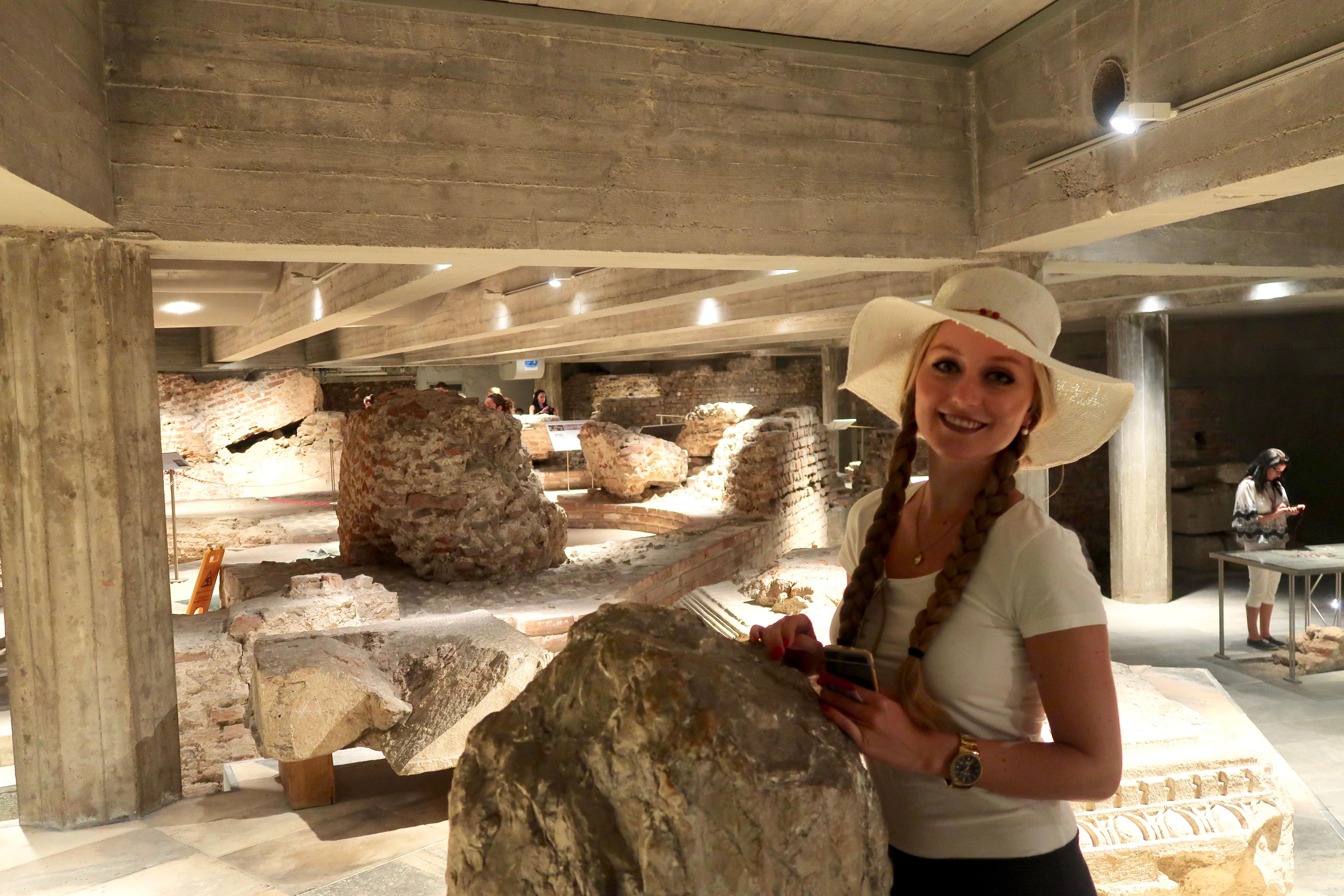 Mailand: im archäologischer Teil unter dem Dom