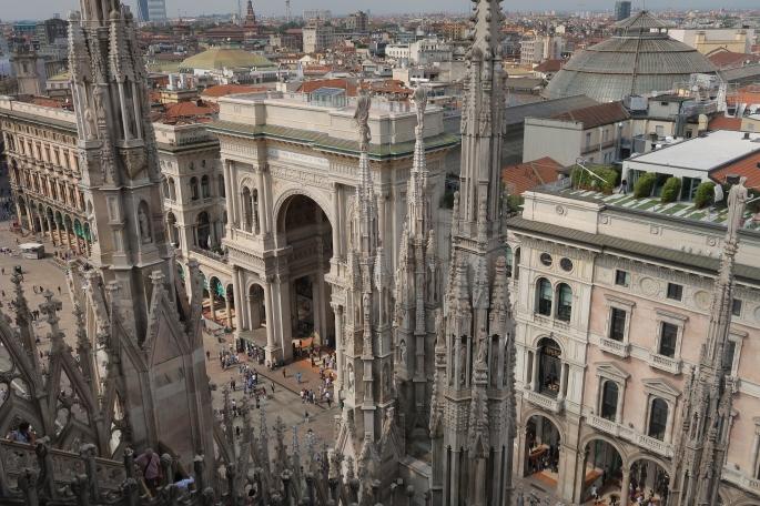Mailand: Galleria Vittorio Emanuele II (vom Dach des Doms aus sichtbar)