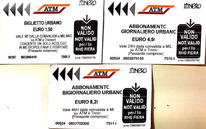 Mailand: Metro und Tram Tickets (Einzelfahrt: 1,50 € ; 24-Stunden-Ticket: 4,50 € ; 48-Stunden-Ticket: 8,25 €)