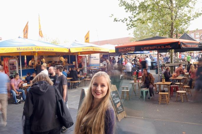 Enschede: der Wochenmarkt, welcher dienstags und samstags stattfindet