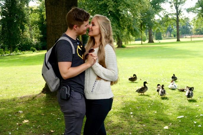 Enschede: Matthias und ich im Volkspark